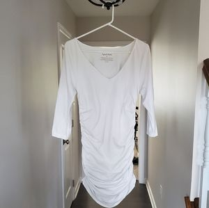 Ingrid & Isabelle White Maternity Top
